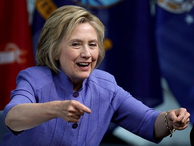 HAMPTON, VA - JUNE 15: Democratic presidential candidate Hillary Clinton participates in a round table conversation on national security at the Virginia Air and Space Center June 15, 2016 in Hampton, Virginia. Following the nation's final presidential primary in the District of Columbia on Tuesday, it is clear that Clinton …
