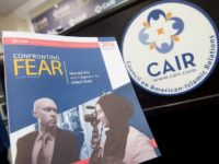 "A report titled ""Confronting Fear,"" about Islamophobia in the US released by the Council on American-Islamic Relations (CAIR), is seen at their headquarters in Washington, DC, June 20, 2016. / AFP / SAUL LOEB        (Photo credit should read SAUL LOEB/AFP/Getty Images)"
