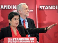 LONDON, ENGLAND - JUNE 30: Labour Party Leader Jeremy Corbyn and Shami Chakrabarti attend the Anti Semitism inquiry findings at Savoy Place, on June 30, 2016 in London England.The Labour leader said there was no acceptable form of racism as he was speaking after the launch of a report by …