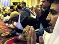Muslims pray during the Eid-al-Adha, Fes