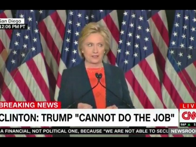 Hillary Clinton Thin Skin Trump Speech CNN