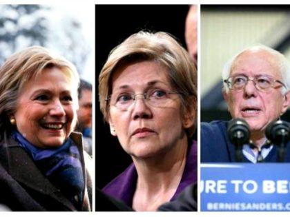 Hillary, Warren, Bernie AP Photos