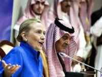Hillary with Persian Gulf donors AP