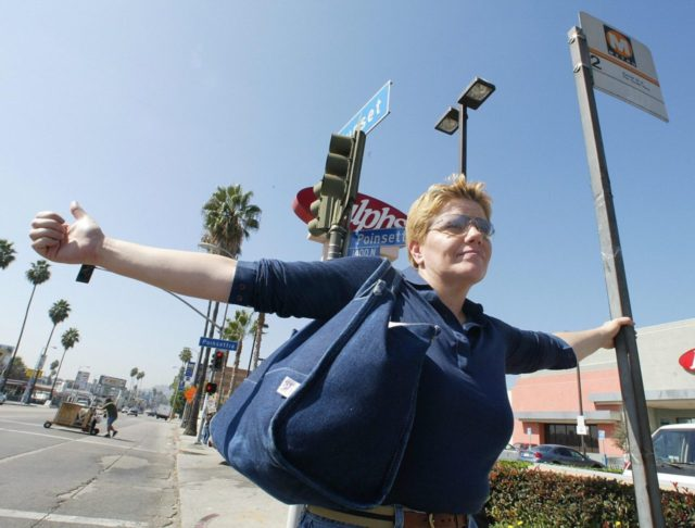 Hitchhiking (Robyn Beck / Getty)