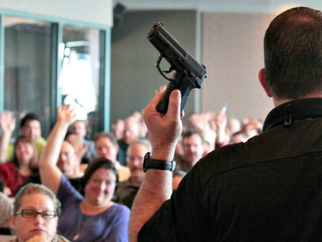 training Thursday for 200 Utah teachers. The Utah Shooting Sports Council said it would waive its $50 fee for concealed-weapons training for the teachers. Instruction