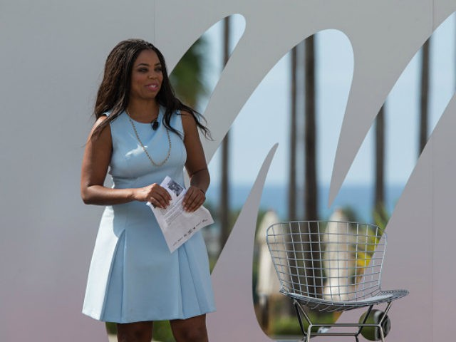 DANA POINT, CA - OCTOBER 15: ESPN Sportscaster Jemele Hill speaks to the audience during the espnW Summit 2015 at St. Regis Monarch Resort on October 15, 2015 in Dana Point, California. (Photo by Mpu Dinani/Getty Images) *** Local Caption *** Jemele Hil