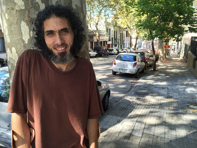 MONTEVIDEO, URUGUAY--March 16, 2015: Jihad Ahmed Mustafa Dhiab, 43, outside his new home in Montevideo.