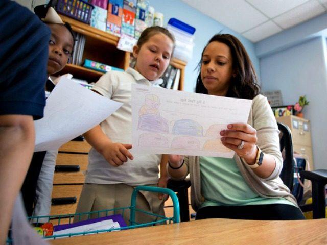 Kindergarten teacher-student AP J Pat Carter