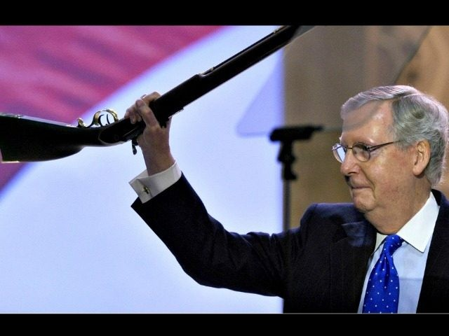 McConnell holds rifle Susan WalshAP