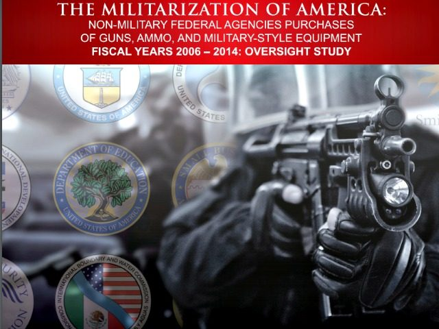 Militarization of America Open the Books