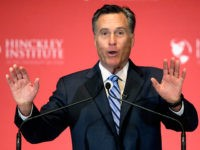 Former Republican presidential candidate Mitt Romney weighs in on the Republican presidential race during a speech at the University of Utah, Thursday, March 3, 2016, in Salt Lake City. The 2012 GOP presidential nominee has been critical of front-runner Donald Trump on Twitter in recent weeks and has yet to endorse any of the candidates. (AP Photo/Rick Bowmer)
