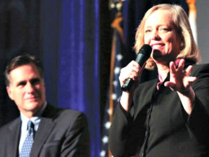 Mitt Romney and Meg Whitman