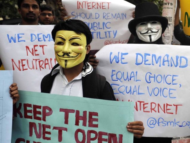 Net Neutrality protest (Manjunath Kiran/AFP/Getty)