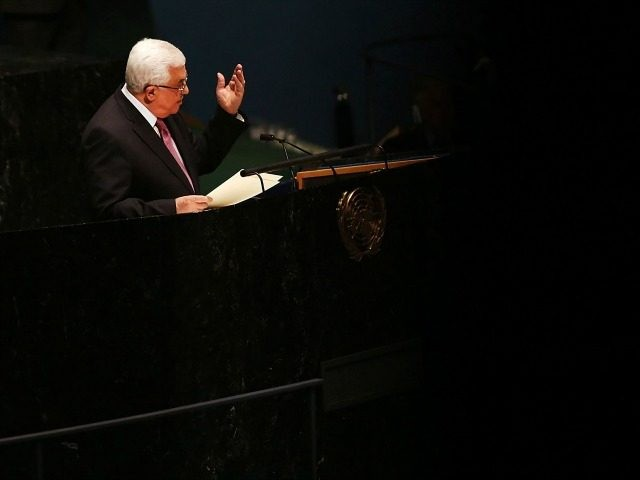 NEW YORK, NY - NOVEMBER 29: Palestinian Authority President Mahmoud Abbas addresses the General Assembly at the United Nations before a UN General Assembly vote on upgrading the status of the Palestinians to non-member observer state on November 29, 2012 in New York City. With many European nations in favor, …