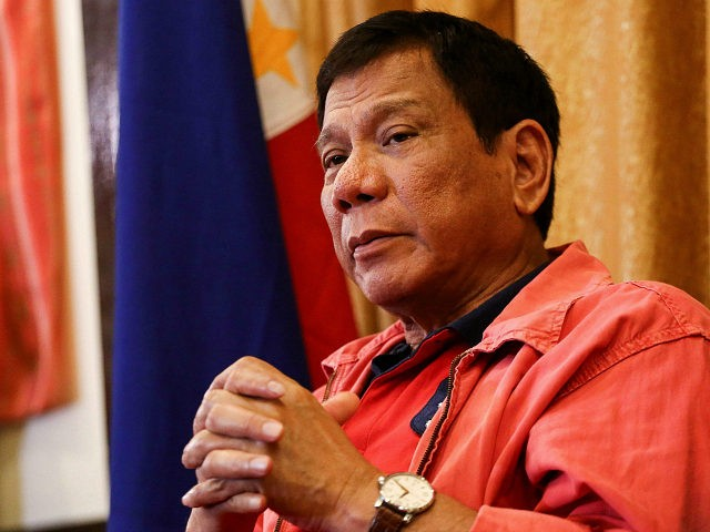 Philippines' president-elect Rodrigo Duterte speaks during a press conference in Davao City, in southern island of Mindanao on May 26, 2016. Explosive incoming Philippine president Rodrigo Duterte has launched a series of obscenity-filled attacks on the Catholic Church, branding local bishops corrupt 'sons of whores' who are to be blamed …