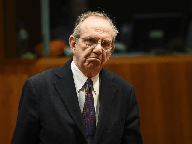Italian Finance Minister Pier Carlo Padoan attends an economic and financial affairs council (ECOFIN) at the European Council in Brussels, March 10, 2015. AFP PHOTO / EMMANUEL DUNAND (Photo credit should read EMMANUEL DUNAND/AFP/Getty Images)