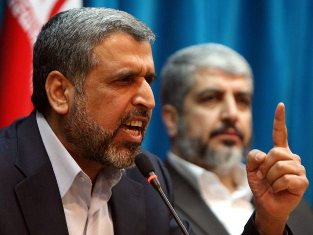 Exiled Palestinian Islamic Jihad leader Ramadan Shallah delivers a speech during a conference in support of Palestinians in Tehran on February 28, 2010.