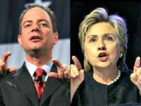 Reince pointing AP Hillary pointing