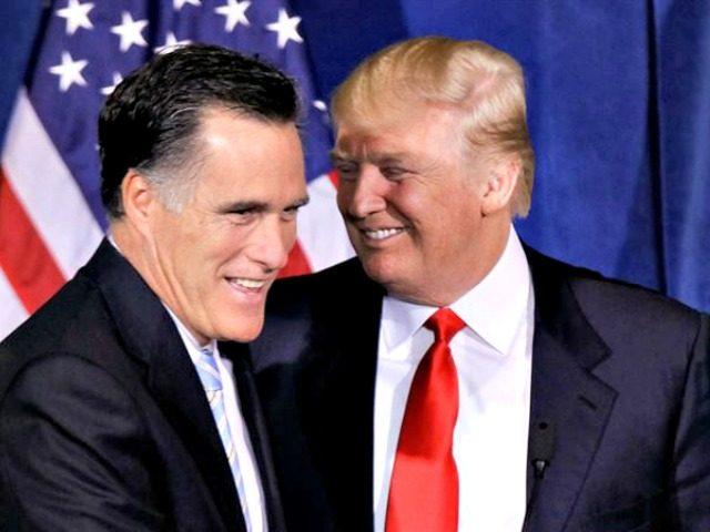 Romney, Trump AP Julie Jacobson