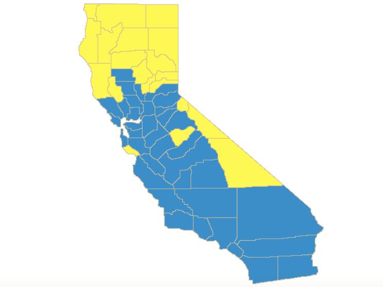 California primary Democratic results (California Secretary of State)