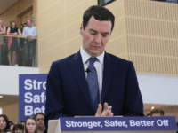 Chancellor of the Exchequer George Osborne deliver a speech on the potential economic impact to the UK on leaving the European Union (EU), at a B&Q Store Support Office, on May 23, 2016 in Chandler's Ford, near Eastleigh, England. Osborne warned that Brexit would lead Britain into a 'year-long recession'. …
