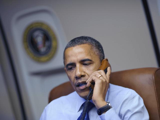 Obama speaks on the phone