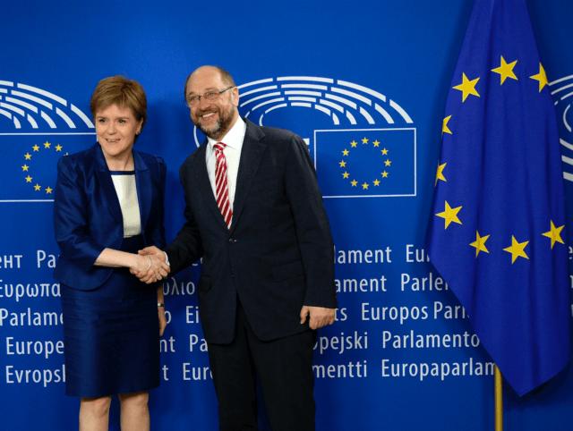 Martin Schulz and Nicola Sturgeon