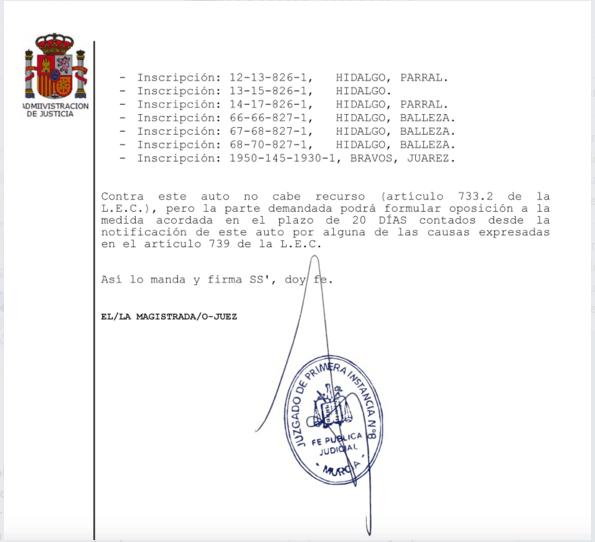Spanish Court