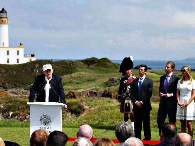 Trump Scotland Andrew Milligan, AP