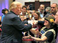 Trump Shakes Hands AP