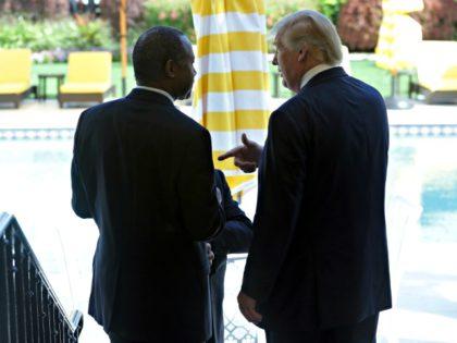 Trump and Carson AP Lynne Sladky