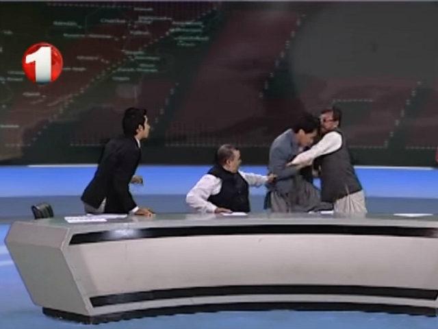 Afghan TV Debate over Terrorism Peace Deal Sparks Fist Fight