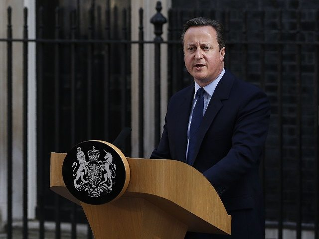 British Prime Minister David Cameron speaks to the press in front of 10 Downing street in central London on June 24, 2016. Britain has voted to break out of the European Union, striking a thunderous blow against the bloc and spreading panic through world markets Friday as sterling collapsed to …