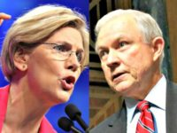 elizabeth warren and jeff sessions AP Photos