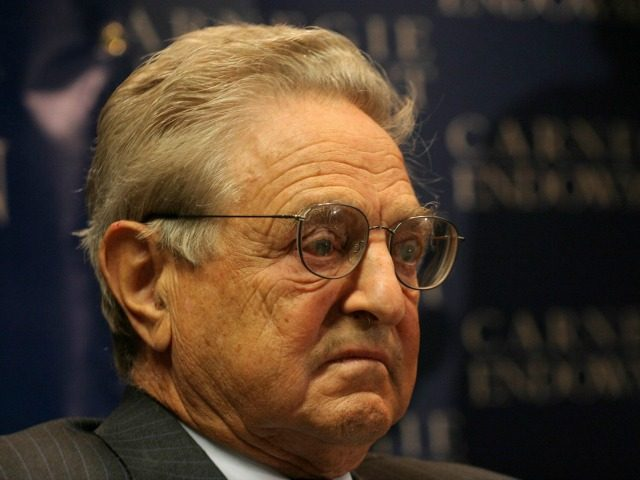US billionaire financier George Soros speaks about his new book 'The Age of Fallibility: Consequences of the War on Terror' 13 September 2006 in Washington, DC.