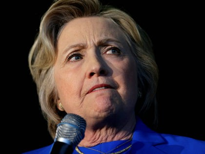 Democratic presidential candidate Hillary Clinton speaks during a rally at Louisville Slugger Field's Hall of Fame Pavilion in Louisville, Ky., Tuesday, May 10, 2016. (AP Photo/Patrick Semansky)