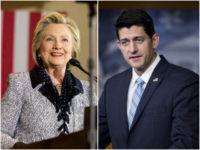 Hillary Clinton and Paul Ryan