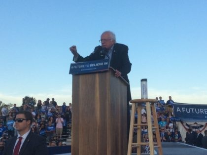 Bernie Sanders in San Diego (Adelle Nazarian / Breitbart News)