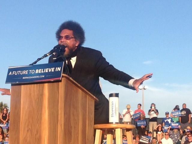 Cornel West for Bernie Sanders (Adelle Nazarian / Breitbart News)