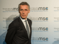 Jens Stoltenberg, Secretary General of NATO, arrives for a press statement at the 2016 Munich Security Conference at the Bayerischer Hof hotel on February 12, 2016 in Munich, Germany.