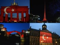 International Landmarks Lit Up with Turkey's Red and White Crescent