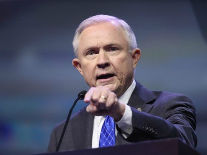 LOUISVILLE, KY - MAY 20: Sen. Jeff Sessions (R-Ala.) speaks at the National Rifle Association's NRA-ILA Leadership Forum during the NRA Convention at the Kentucky Exposition Center on May 20, 2016 in Louisville, Kentucky. The convention, which opened today, runs May 22. (Photo by Scott Olson/Getty Images)