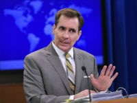 UNITED STATES, Washington : State Department Spokesman John Kirby speaks during the daily briefing at the State Department on January 6, 2015 in Washington, DC. Even as world powers work to implement the Iran nuclear deal, North Korea's apparent detonation of a new bomb marks a stark setback for global …