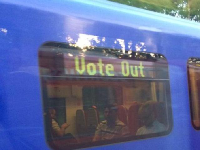 vote out train