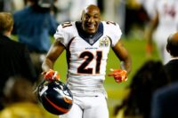 "Aqib Talib, pictured on February 7, 2016, ""is being treated at a Dallas hospital for a gunshot wound to his leg,"" Denver Broncos spokesman Patrick Smyth confirmed"