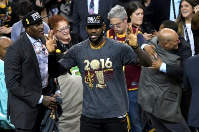LeBron James and the Cleveland Cavaliers celebrate the greatest comeback in NBA Finals history after dethroning defending champion Golden State 93-89 to capture their first NBA title