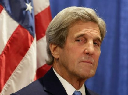 US Secretary of State John Kerry, pictured on June 20, 2016, met with 10 of the diplomats who wrote a cable calling for military action to force Syria's Bashar al-Assad to agree to peace talks