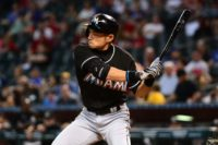 Ichiro Suzuki of the Miami Marlins stands just one hit behind Pete Rose's major-league record of 4,256 hits