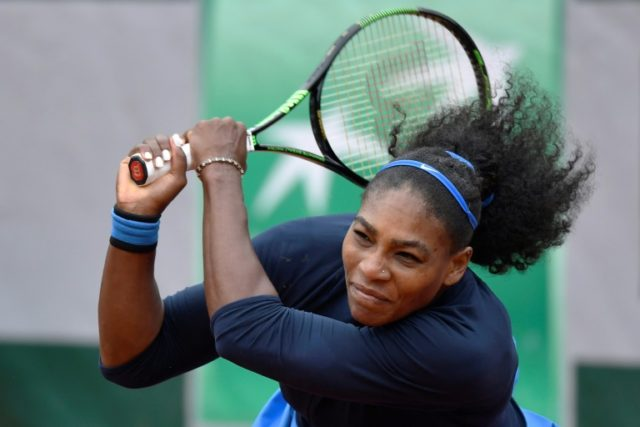 Serena Williams in action against Kiki Bertens in the French Open semi-finals on June 3, 2016