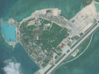 WOODY ISLAND, SOUTH CHINA SEA - APRIL 26, 2016: DigitalGlobe imagery from 26 April 2016 of Woody Island (Yongxing Island) in the South China Sea. The Island has been under the control of the People's Republic of China since 1956. (Photo DigitalGlobe via Getty Images)
